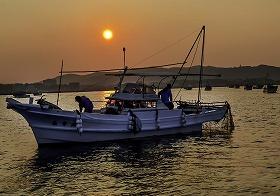 「大村湾のナマコ漁」古瀬敏一